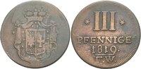 3 Pfennige 1819 Waldeck Pyrmont Georg Hein...