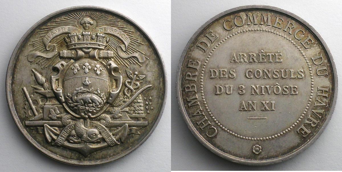 Jeton tokens and medals numismatique du commerce et de l - Chambre du commerce et de l artisanat ...
