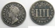 1686 Ausländische Münzen Fourpence   1686...