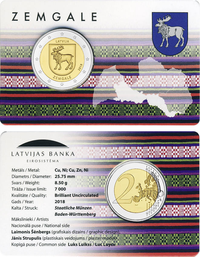 2 Euro 2018 Latvia 2 Euro 2018 Historical And Cultural Regions 4th
