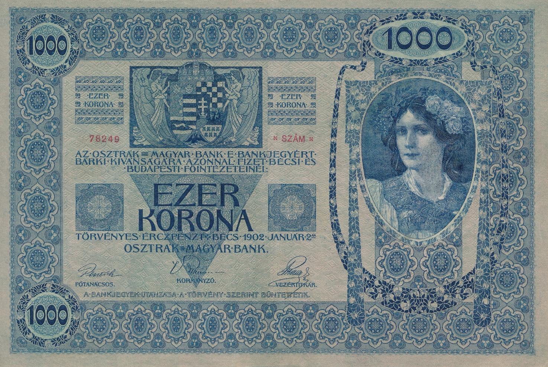 AUSTRIA 1000 1,000 KRONEN  P-61 1902 EURO EU LARGE SIZE UNC MONEY BILL BANK NOTE