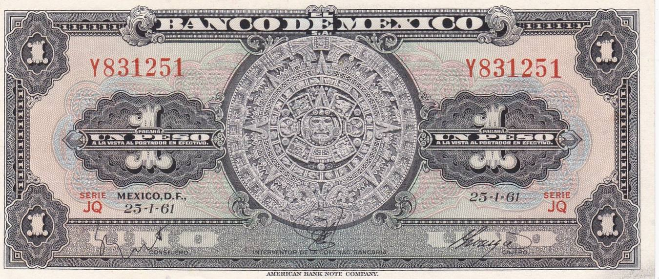 Details about  /MEXICO PESO BANKNOTE SERIES UNC//A 5,10,20,50,100,500,1000,2000 PESOS SET.