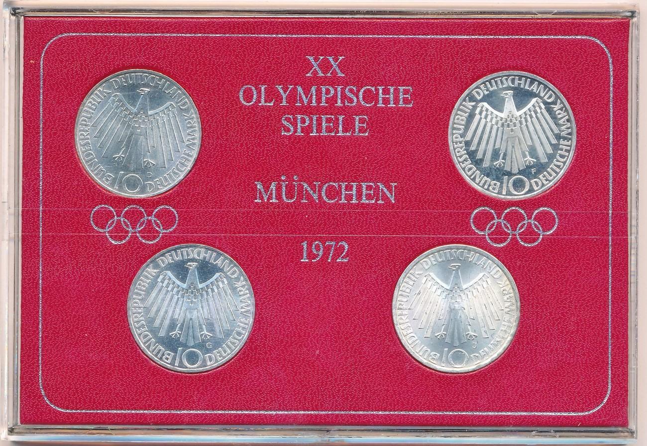 10 Mark 1972 Brd Serie Olympiade München Spirale Deutschland