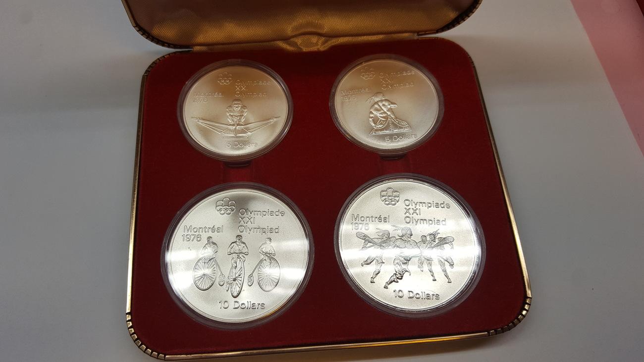 5 10 Dollars 1976 Canada Olympische Spiele Montreal 4 Münzen 2 5