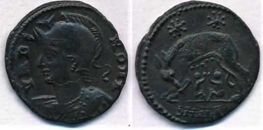 Follis 306 337 Römische Kaiserzeit Constantine Follis Commemorative