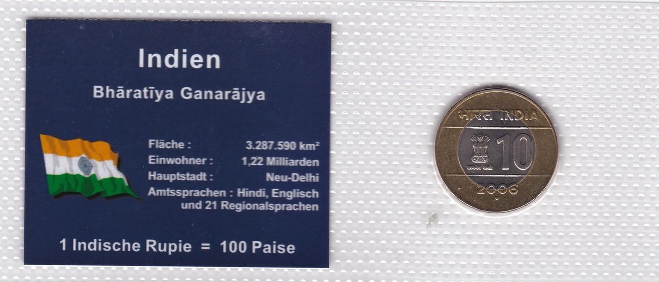 10 Rupees 2006 Indien Münzen Set Indien 1 Indische Rupie 100 Paise