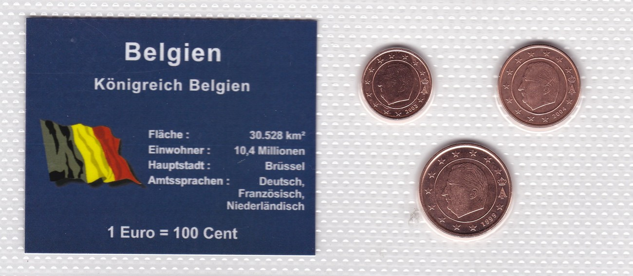 1 2 5 Cents 1999 2003 2004 Belgien Münzen Set Belgien 1 2 5 Cent 1