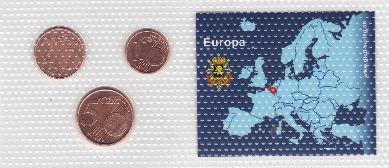 1 2 5 Cents 1999 2003 2004 Belgien Münzen Set Belgien 1 2 5 Cent 1