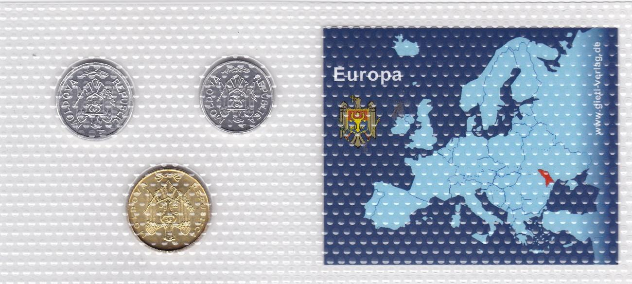 10 25 50 Bani 2008 Maldau Münzen Set Moldova Leu Original