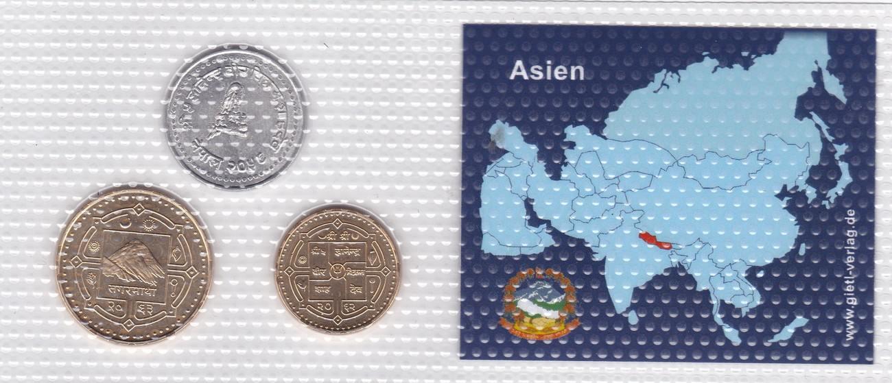 Rupie Paisa Nepal Münzen Set Nepäl Original Verschweißt Spl Ma Shops