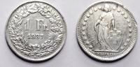 1 Franken 1937 Schweiz  unz