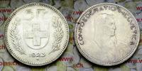 5 Fr. 1923 Schweiz  ss Kratzer im Wappen