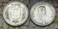 5 Fr. 1931 Schweiz Abart / Fehlprägung 10 ...