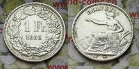 1 Franken 1851 A Schweiz  vz