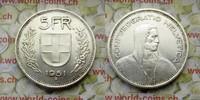 5 Fr. 1951 Schweiz  vz-unz