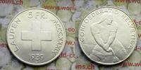 5 Franken 1939 Schweiz Eidgenossenschaft G...