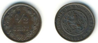 1/2 cent 1886 Willem III  Nearly mint