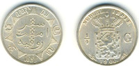 1/4 Gulden 1900 Dutch East Indies  vz