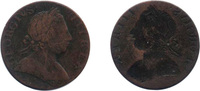 ½ Penny 1770 United Kingdom  Amost very fine
