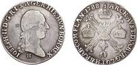 ¼ Taler 1788 Austrian Netherlands  s+