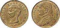 1895  Wilhelmina en Emma regentes Very fine