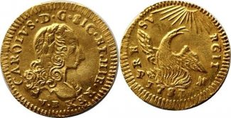 Oncia d'Oro 1751 Italien . Oncia d'Oro 1751 Italien-Sizilien -- GOLD vorzüglich - stempelglanz