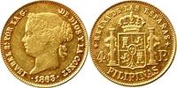 4 Pesos 1863 Philippinen 4 Pesos(100 Reale...