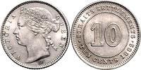10 cent 1882 Strait Settlements englische ...