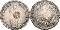 8 Reales 1834 Peru 1834 Lima, MM, mit Gege...