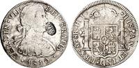 """8 Reals 1810 Mexiko Gegenstempel """"SM&..."""