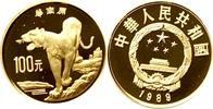 100 Yuan 1989 China China - Tiger Polierte...