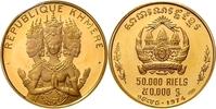 50.000 Riels 1974 Kambodscha Kambodschanis...
