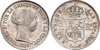 2 Reales 1852 Spanien 2 Reales 1852 f. ste...