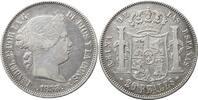 20 Reales 1858 Spanien 20 Reales 1858 (Mad...
