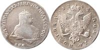 Poltina 1744 Russland 1/2 Rubel (Poltina) ...