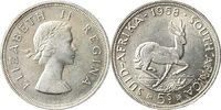 5 Shilling 1958 Südafrika 5 Shilling 1958 ...