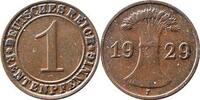 1 Rentenpfennig 1929 F Weimarer Republik ....