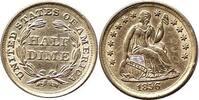 dime 1856 USA Half dime 1856 USA -- vorzüg...