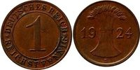 1 Reichspfennig 1924 E Weimarer Republik 1...