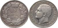 5 Dinara 1879 Serbien .5 Dinara 1879 -- Se...