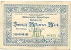 20 Mia. Mark 27.10.1923 Emmendingen - Stad...