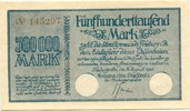 500 Tsd. Mark 8.8.1923, Freiburg/Br. - Sta...