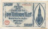 2 Mio. Mark 14.8.1923, Ulm (Württemberg) -...