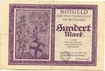 100 Mark 23.10.23, Konstanz (Baden) - Stad...