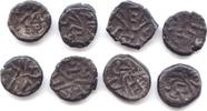 Æ-ca. 9 mm,  Nagas von Narwar, Ganapati Naga (Ganenda), ca. 340, 8 Exem... 35,00 EUR  +  5,00 EUR shipping