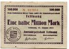 ½ Mio. Mark 27.8.1923, Tettnang (Württembe...