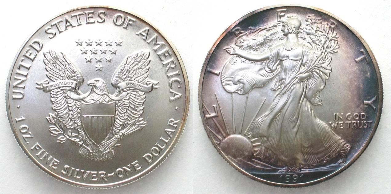 1991 Vereinigte Staaten Von Amerika US 1991 AMERICAN EAGLE SILVER