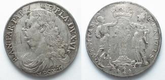 Italien - Parma  1692 ss-vz PARMA Ducatone 1692 Pa
