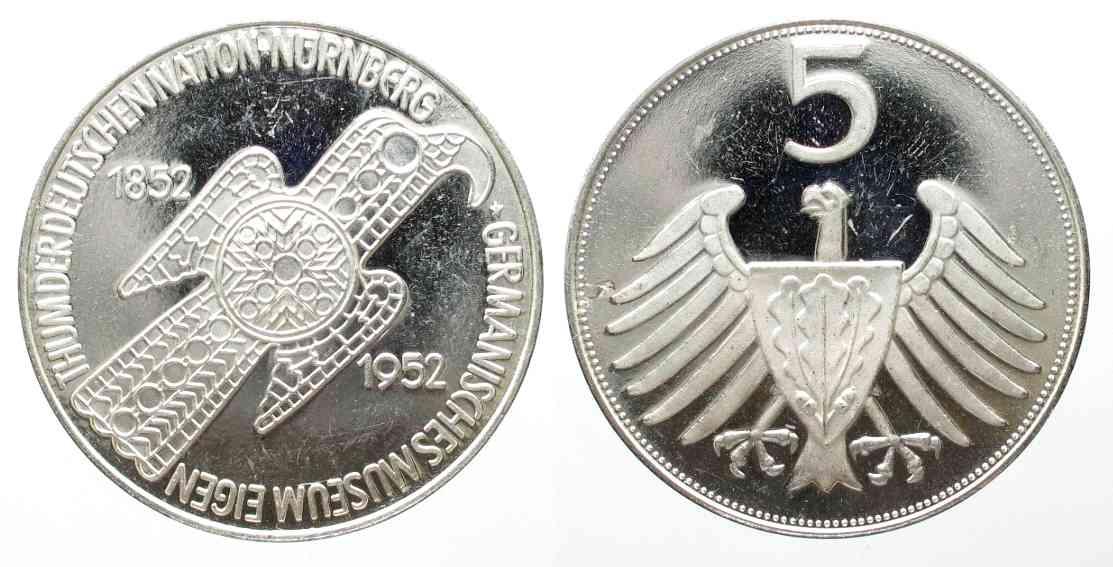 1992 Deutschland Medaillen Germany Medal 40 Years Germanisches