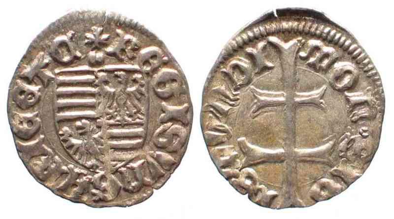 1387 1437 Ungarn HUNGARY Denar SIGISMUND Silver XF UNC 54497